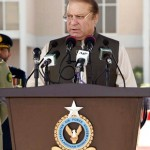 Prime Minister Muhammad Nawaz Sharif addresses the graduation ceremony of 137 G.D (P), 83 Engineering, 93 Air Defence, 18 A &SD, 06 Navigation and 02 Logistics courses at PAF Academy Risalpur on 11th April, 2017.