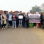 Students of  Ludhiana College of Engineering and Technology, Katani Kalian  paid tribute to martyrdom of Pulwama  & candlelight march  3 copy.resized.resized