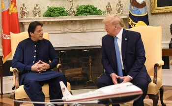 Prime Minister Imran Khan meeting with US President Donald Trump at White House on 22nd July, 2019