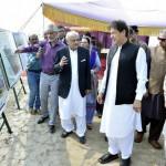 Prime Minister Imran Khan being briefed about Baba Guru Nanak University Project, in Nankana Sahib on October 28, 2019